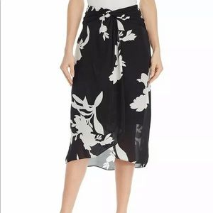 Joie Arlissa 100% silk twist front wrap skirt